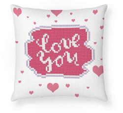 Diamond Dotz Love You Mini Pillow - Needleart World