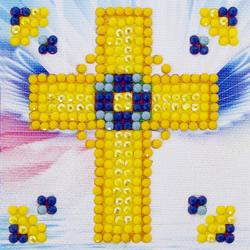 Diamond Dotz Golden Cross - Needleart World