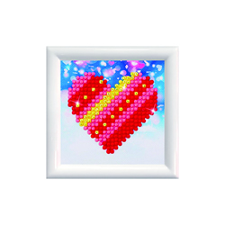 Diamond Dotz Patchwork Heart DD Kit with Frame - Needleart World