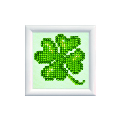 Diamond Dotz Lucky Leaves DD Kit with Frame - Needleart World