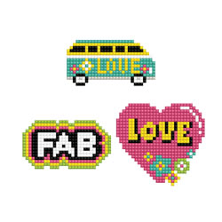 Diamond Dotz Dotzies 3 Stickers Multi Pack - Love - Needleart World