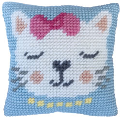 Cushion cross stitch kit Kitten Purr - Needleart World