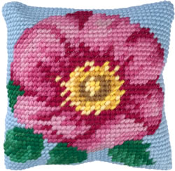Cushion cross stitch kit Wild Rose - Needleart World