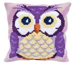 Kussen borduurpakket Owl - Needleart World