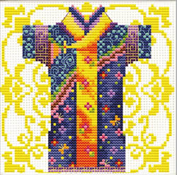 Voorbedrukt borduurpakket Male Geisha Blue - Needleart World