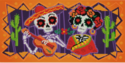 Pre-printed cross stitch kit Day of the Dead - Needleart World