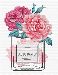 Pre-printed cross stitch kit Rose Chic - Needleart World