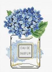 Pre-printed cross stitch kit Hydrangea Bloom - Needleart World