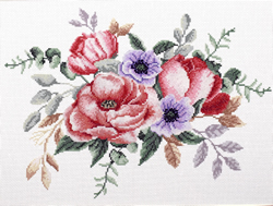 Pre-printed cross stitch kit Elegant Bouquet - Needleart World