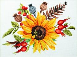 Pre-printed cross stitch kit Autumn Bouquet - Needleart World