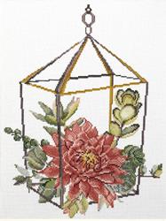 Pre-printed cross stitch kit Succulent Garden 2 - Needleart World