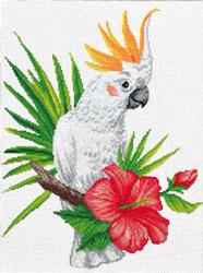 Pre-printed cross stitch kit Cockatoo call - Needleart World