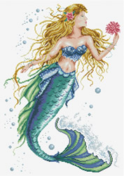 Pre-printed cross stitch kit Mermaid Wish - Needleart World