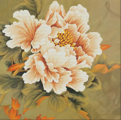 Voorbedrukt borduurpakket Blooming Peony1 - Needleart World