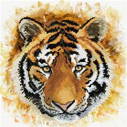 Voorbedrukt borduurpakket Tiger charge - Needleart World