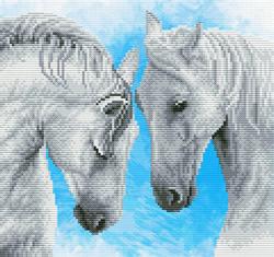 Pre-printed cross stitch kit Horse prayer - Needleart World