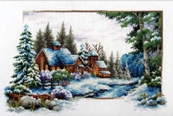 Voorbedrukt borduurpakket Winter Snow - Needleart World