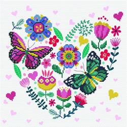 Pre-printed cross stitch kit Love Garden - Needleart World
