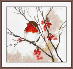 Cross stitch kit Robin - Oven