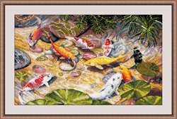 Cross stitch kit Koi Karps - Oven