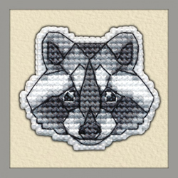 Borduurpakket Badge Raccoon - Oven
