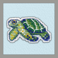 Borduurpakket Badge Turtle - Oven