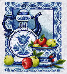 Cross Stitch Kit Ripe Apples - PANNA