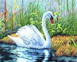 Cross Stitch Kit White Swan - PANNA