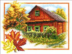 Borduurpakket Autumn House - PANNA