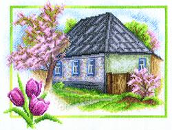 Borduurpakket Spring House - PANNA
