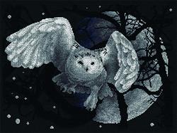 Cross Stitch Kit White Owl - PANNA