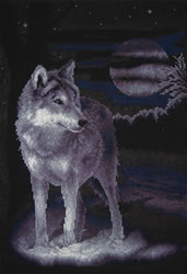 Borduurpakket White Wolf - PANNA