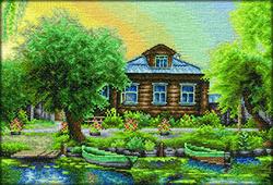 Borduurpakket Russian Fishing Village - PANNA