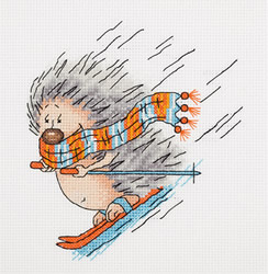 Cross stitch kit Winter Hedgehog - PANNA