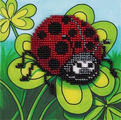 Kralen borduren Ladybird on Clover - PANNA