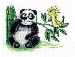 Cross stitch kit Panda and the Caterpillar - PANNA