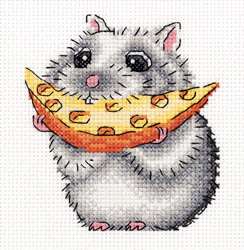 Cross stitch kit Little Hamster - PANNA