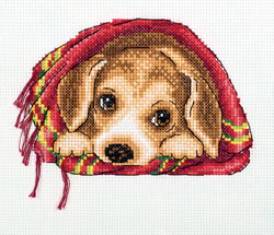 Cross stitch kit Cosy Blanket - PANNA