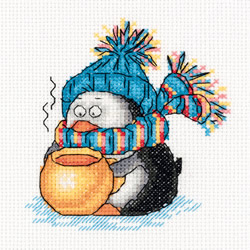 Cross stitch kit Winter Teatime - PANNA