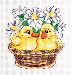 Cross stitch kit Ducklings - PANNA