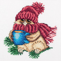 Cross stitch kit Warming Tea - PANNA
