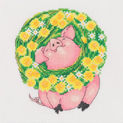 Cross stitch kit In the Dandelion Wreath - PANNA