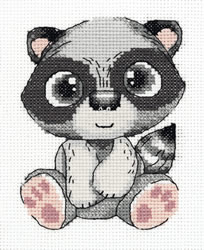 Cross stitch kit Pepe the Raccoon - PANNA