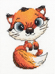 Cross stitch kit Abby the Fox - PANNA
