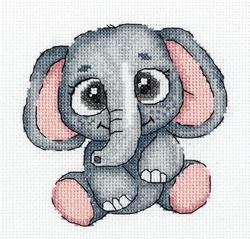 Cross stitch kit Lola the Elephant - PANNA