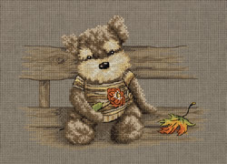 Cross stitch kit Plush Friend - PANNA