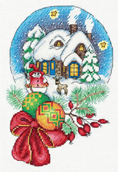 Cross stitch kit Christmas Snow Globe - PANNA