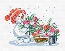 Cross stitch kit Pink Winter - PANNA