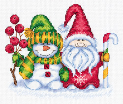 Cross stitch kit Winter Greetings - PANNA