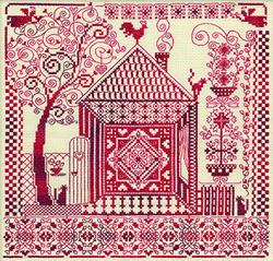 Cross Stitch Kit Redwork - PANNA